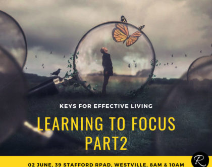 Learning To Focus Part 2